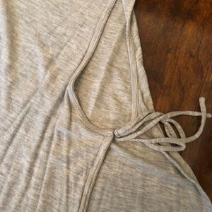 Wilfred Tops - Aritizia Wilfred Free grey tank top with tie side